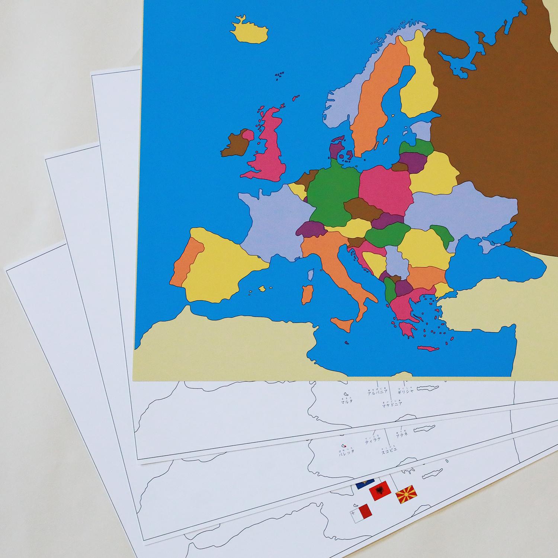 世界地図パズル正誤版ヨーロッパセット【ヨーロッパA(色付)B