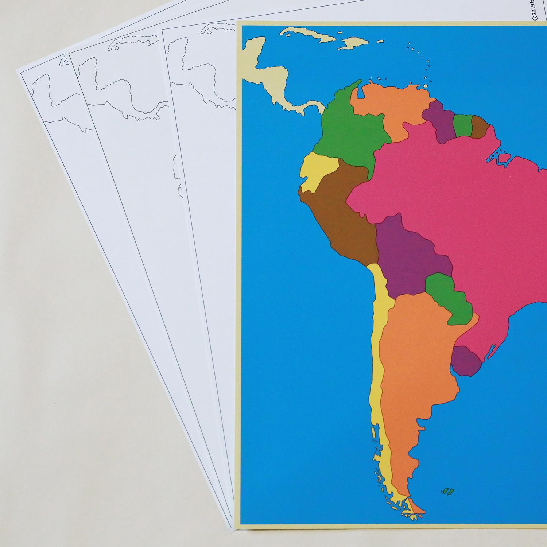 世界地図パズル北アメリカセット【A(色付)B(国名)C(首都名