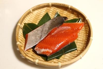 (無塩)生紅鮭切身 2切