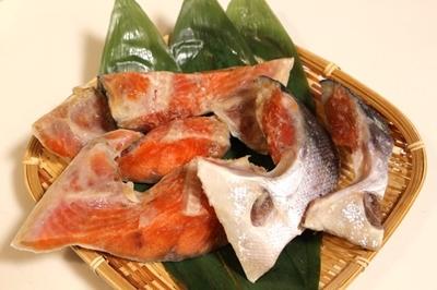 天日塩使用!お徳用紅鮭カマ 500g