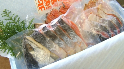 特上紅鮭切身 (1尾分)2kg