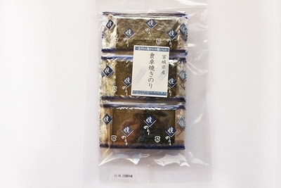 宮城県産 食卓焼きのり 4枚×25p