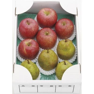 【予約販売】ラ・フランスとふじりんご詰合せ 3kg
