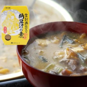 雪割納豆入り納豆汁の素150g【冷蔵】
