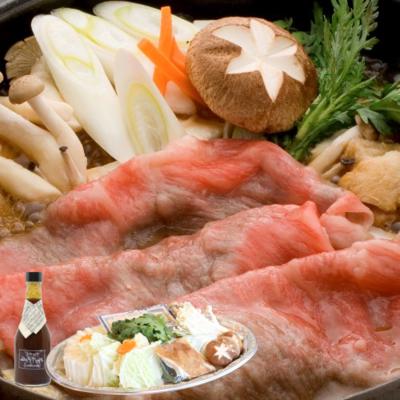 米沢牛すき焼きセット(野菜+割下付き)【冷蔵】