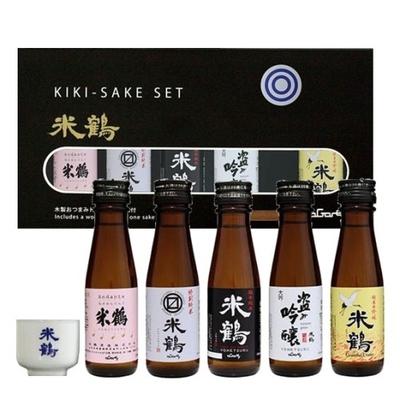 米鶴利き酒セット(お猪口、おつまみトレー付)