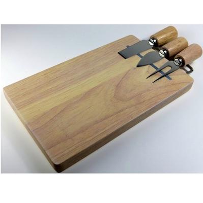 チーズナイフ3本&ウッドボードセット