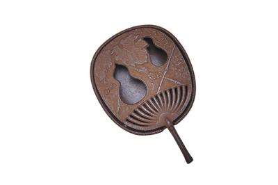 南部鉄器 灰皿うちわ 素朴で懐かしい 繊細な模様が美しい