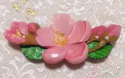 帯留め(桜)(兼ブローチ)