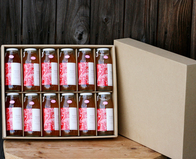 【送料無料】無添加りんごジュース小瓶12本セット(180ml×12本入り 化粧箱)