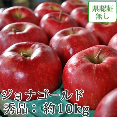 【送料無料】青森県産りんご ジョナゴールド 秀品  約10kg(28-40個入) 認証なし