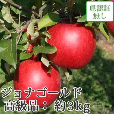 【送料無料】青森県産りんご ジョナゴールド 高級品  約3kg(8-12個入) 認証なし