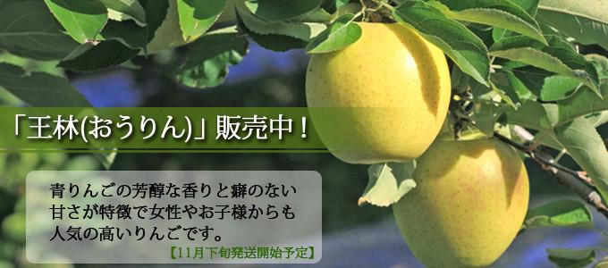 青りんごの芳醇な香りと甘さが美味しい「王林」