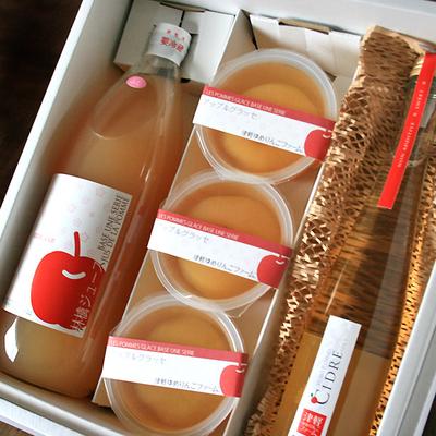 【母の日・送料無料】【酒類】りんごジュース&グラッセゼリー&シードル詰合せ