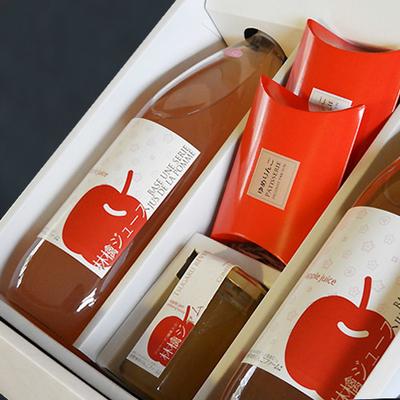 【送料無料】贈答用・ギフト りんご満喫ゆめりんごギフトセットNO1(りんごジュース2・ドライフルーツ2・ジャム1)
