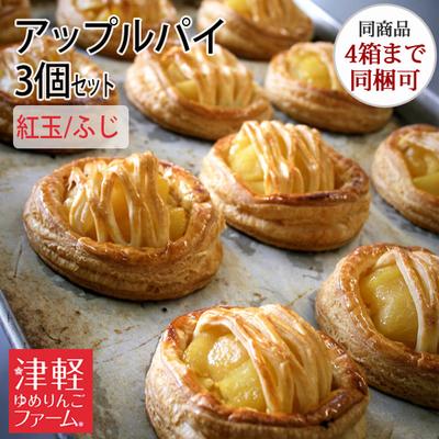 【冷凍便・送料別】アップルパイ(スタンダードタイプ・紅玉/ふじ)3個セット