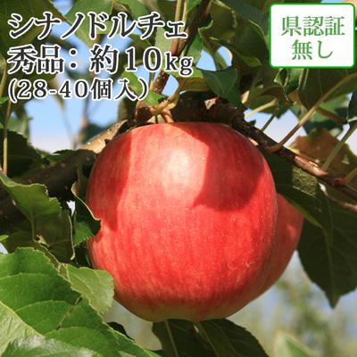 【送料無料】青森県産りんご シナノドルチェ 秀品  約10kg(28-40個入) 認証なし