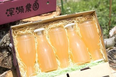 無添加りんごジュース180ml(サンふじ)5本セット