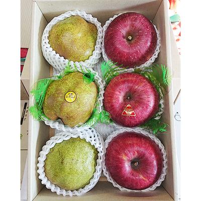 りんご&ラ・フランス詰め合わせ 約3kg6玉入り