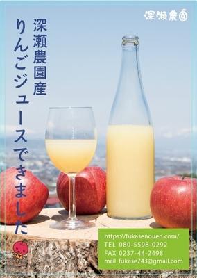 無添加りんごジュース720ml(サンフジ)2本セット