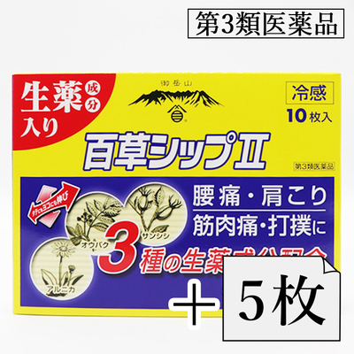【キャンペーン】百草シップII(ツー)1箱お買い上げで5枚プレゼント
