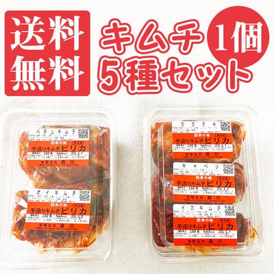 キムチ5種 お得なお試しセット【1個】