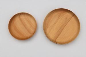 癒しの木製食器2枚セット【森永材木店】
