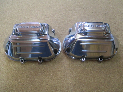 VALVE COVER ROUND HEADS POLISHED R+L SET