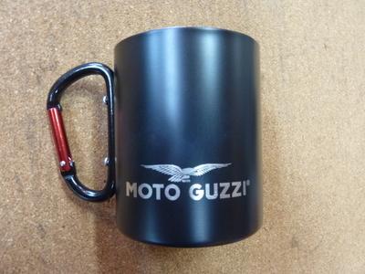 MOTO GUZZI社純正アクセサリー アルミ製マグカップ(ブラック)