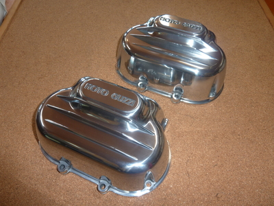 VALVE COVER ROUND HEADS POLISHED R+L SET LOOP etc