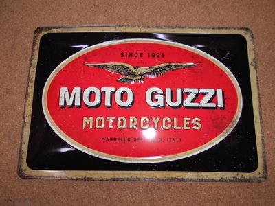 MOTO GUZZI PARKING ONLY  20cm x 30cm