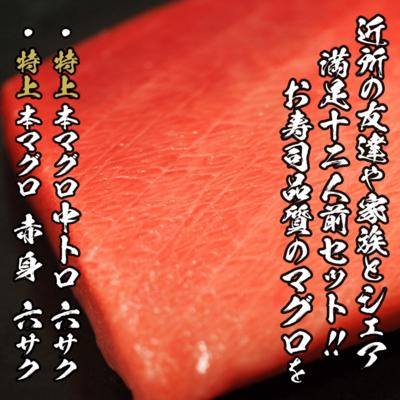 (送料無料)【おうち居酒屋】天然本マグロ赤身・中トロ お刺身用セット×3セット分【冷凍】