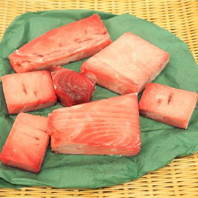【訳あり】冷凍メバチマグロ(キズ・スジあり)1kg入り【水産物応援商品・送料無料】
