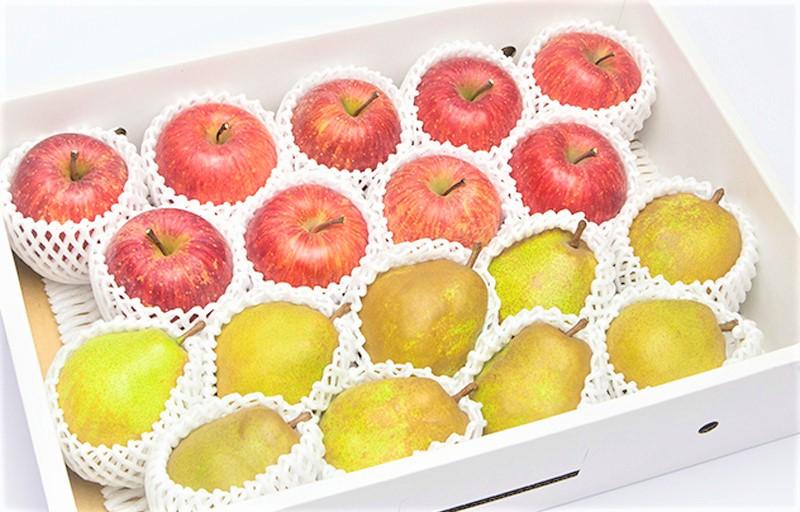 山形県産 ラ・フランス&りんご詰め合せ 約5kg 12から20個入り