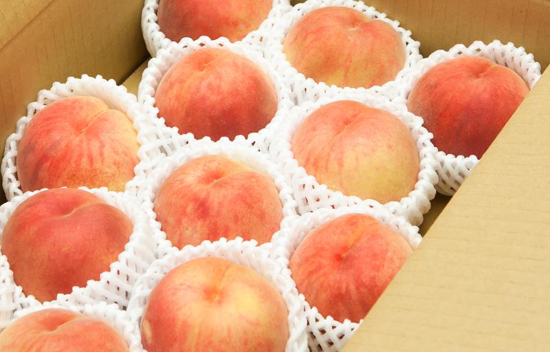 品種おまかせ 白桃 中玉 約2.5kg 10から12個入り 【秀品】