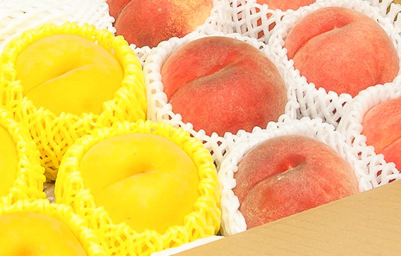 マンゴーピーチ&おまかせ白桃 約2.5kg 7から9個入り 【秀品】