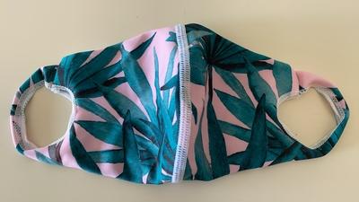 水着生地マスク 【O柄】Mサイズのみ 洗って使えるマスク UVカット効果 マスクフィルターを入れるポケット付き
