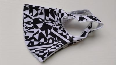 【LC柄】Lサイズのみ 洗える水着の布マスク UVカット効果 マスクフィルターを入れるポケット付き