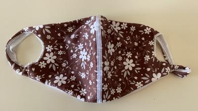 【E柄】Mサイズのみ 洗える水着の布マスク UVカット効果 マスクフィルターを入れるポケット付き