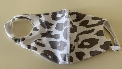 水着生地マスク 【T柄】Mサイズのみ 洗って使えるマスク UVカット効果 マスクフィルターを入れるポケット付き