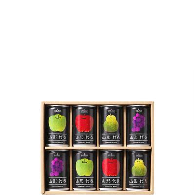 山形代表 詰合せ8缶セット(もも・かき・白ぶどう・とまと無し)