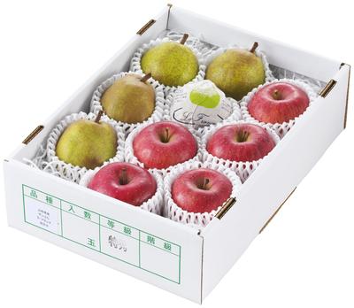 ラ・フランス&ふじりんご 3kg・8玉~10玉