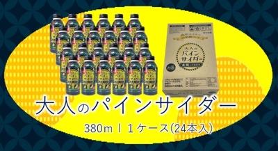 【新発売】大人のパインサイダー ボトル缶 380ml×24本(1箱)※これはお酒です