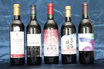 山形ワイン GI認定記念緊急企画 赤ワイン5本セット 【プレゼント付】