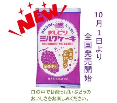 【10/1発売】日本製乳 おしどりミルクケーキ ぶどう 7本入×10袋