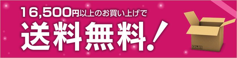 送料無料キャンペーン 16,500円以上お買い上げの方は送料無料に!