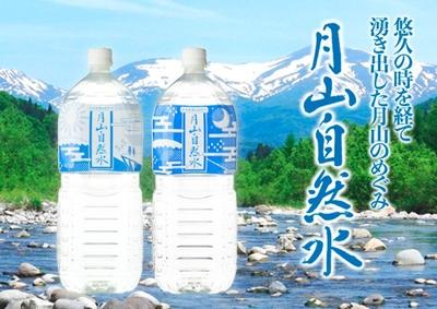 月山自然水 2Lペットボトル×6本(1箱)