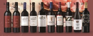 ワインの銘醸地を巡る! 世界の赤ワイン10本セット 通常¥14,900→特別価格10,000円(税抜)