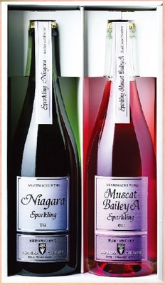 朝日町ワイン スパークリング ナイアガラ・ロゼ セット 750ml×2