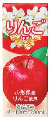 丸菱食品 りんごジュース 紙パック 200ml×12本
